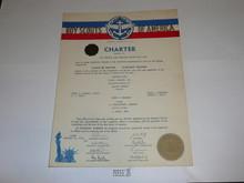 1952 Sea Scout Ship Charter, January, 15 year Veteran Ship Sticker