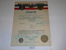 1947 Sea Scout Ship Charter, February, 10 year Veteran Ship Sticker