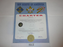 1969 Cub Scout Pack Charter, October, 15 year veteran sticker