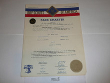 1956 Cub Scout Pack Charter, May, 5 year veteran sticker