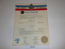 1954 Cub Scout Pack Charter, May, 5 year veteran sticker