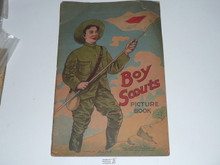 1914 Boy Scouts Picture Book, Spine Fragile and Back Cover Separated