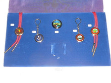 Salesmans Sample Presentation of Assorted Scout Jewelery Items