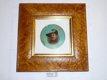 Baden Powell Glass Photo Plate in Expensive Frame