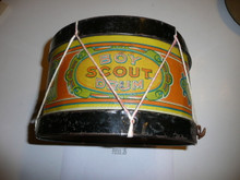 Teens Boy Scout Drum, Some Dents, Patent February 18 1908