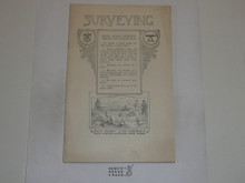 Surveying Merit Badge Pamphlet, 1920 Printing