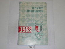 1968 Boy Scout Requirements Book, 1-67 Printing