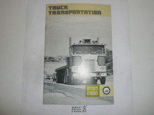 Truck Transportation Merit Badge Pamphlet, 7-75 Printing