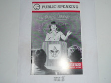 Public Speaking Merit Badge Pamphlet, 1-90 Printing