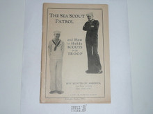 The Sea Scout Patrol and How it Holds Scouts in the Troop, 1931, Boy Scout Service Library, No Cover Printing