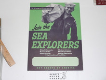 1959 11x17 Poster Join The Sea Explorers, On Cardstock