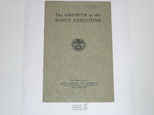 The Growth of the Scout Executive, 1928 Printing, Boy Scout Service Library
