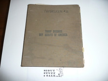 1930's Troop Records Notebook With Lots of BSA Record Pages and Applications