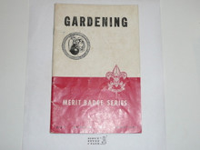 Gardening Merit Badge Pamphlet, 10-51 Printing