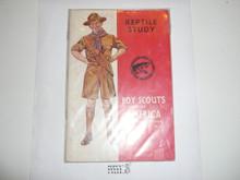 Reptile Study Merit Badge Pamphlet, 5-42 Printing