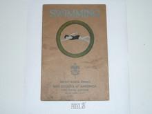 Swimming Merit Badge Pamphlet , 2-36 Printing