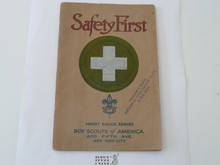 Safety First Merit Badge Pamphlet, 1928 Printing