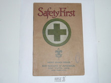 Safety First Merit Badge Pamphlet , 1925 Printing