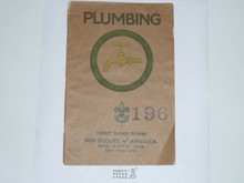 Plumbing Merit Badge Pamphlet , 1928 Printing