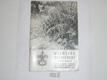 Wildlife Management  Merit Badge Pamphlet, 4-53 Printing