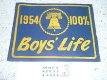 1954 100% Boys' Life Felt Pennant