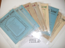 1928-1929 Thirteen Issues of the American Scout Magazine, Newsletter of Region 3 Lone Scout Division
