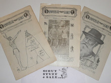 1918 Universal Scout, Webster New York, 3 Issues, Volume 4 #1/2, #3 and #4a