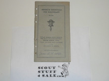 1927 Cedar Rapids Area Council Minimum Essentials for Scout Craft