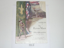 1926 Rover Moot Official Programme, Small Tear in Upper Right of Cover