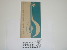 1956 Girl Scout Pocket Songbook