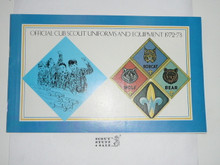 1972-1973 Winter Cub Scout Equipment Catalog