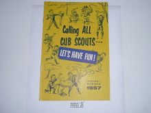 1957 Spring/Summer Cub Scout Equipment Catalog