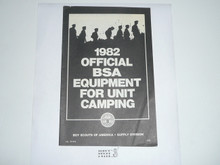 1982 Equipment Catalog For Unit Camping 12165