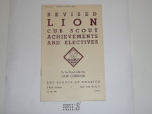 1947 Revised Lion Cub Scout Requirements, 1-47 Printing