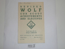 1947 Revised Wolf Cub Scout Requirements, 1-47 Printing