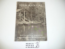 1926 Annual Report Delaware and Montgomery County Council, Great Information