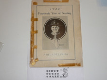 1924 Philidelphia Council Annual Report, Taped Covers