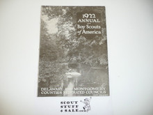 1922 Annual Report Delaware and Montgomery County Council, Great Information