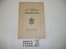 Teens Standard Scout Terminology and Proofreaders Marks