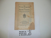 Troop Program and Scout Tenure, Boy Scout Service Library, Cover Torn, No Cover Printing, 1934