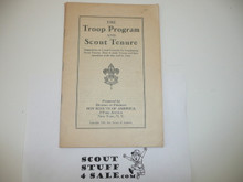 The Troop Program and Scout Tenure, Boy Scout Service Library, 1934