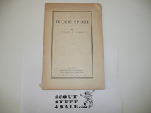 Troop Spirit, Boy Scout Service Library, No Cover Printing, Spine Worn, 1930