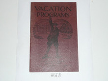 Vacation Programs, 1929 Printing, Boy Scout Service Library