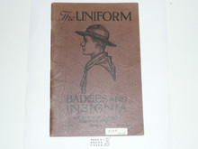 The Uniform Badges and Insignia, 1929 Printing, Boy Scout Service Library