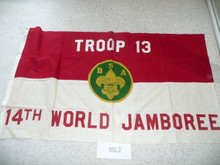 1975 World Jamboree Boy Scouts of America Troop #13 Flag, 2 sided