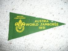 1951 World Jamboree British Contingent Felt Pennant