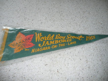 1955 World Jamboree Jamboree Felt Pennant