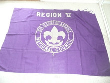 Early Region Five (V) Flag, some damage at the upper right