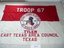 1964 National Jamboree Troop 67, of the East Texas Area Council (Tyler Texas), Troop Flag