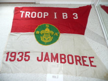 1935 National Jamboree Troop IB3 Flag, some small holes (one pictured)